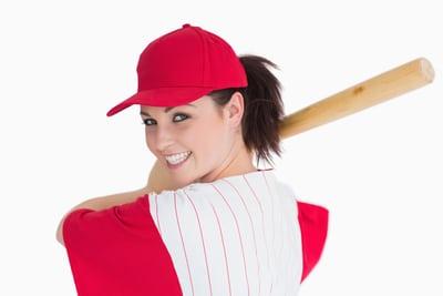 Woman with a baseball bat