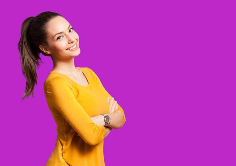 woman wearing yellow blouse