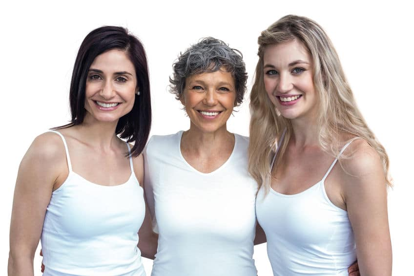 a group of 3 women in different ages
