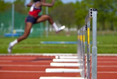 athlete on the track