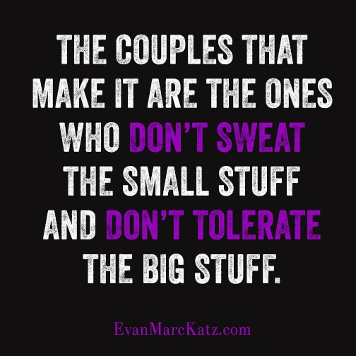 Couple that make it don't sweat small stuff