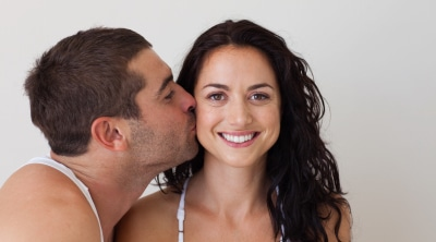 Why Married Women Are Happier Than Single Women-Husband Kissing his wife