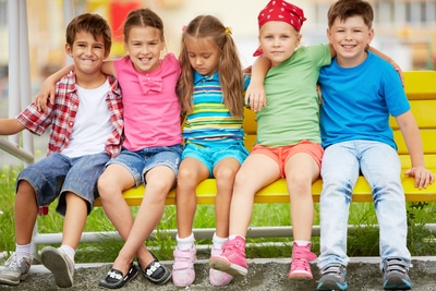 group of children with diverse cultures