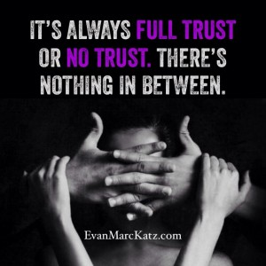 It is always full trust or no trust