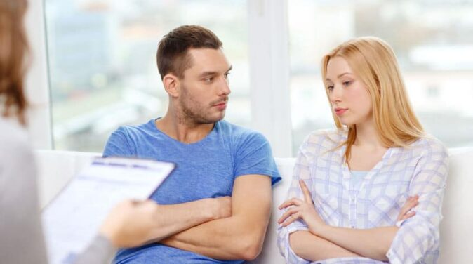 couple having an interfaith therapy