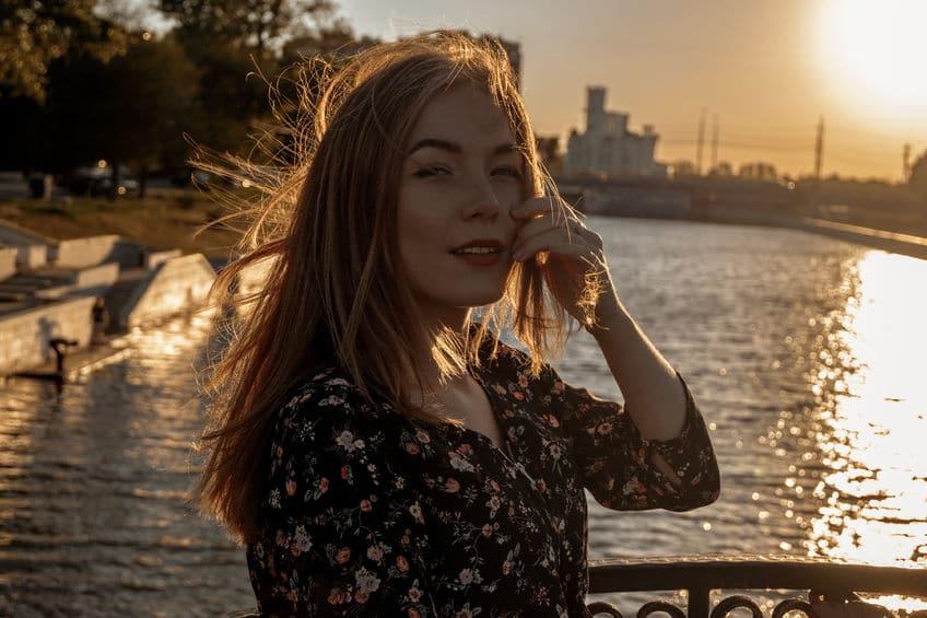 beautiful young lady under the beautiful sun