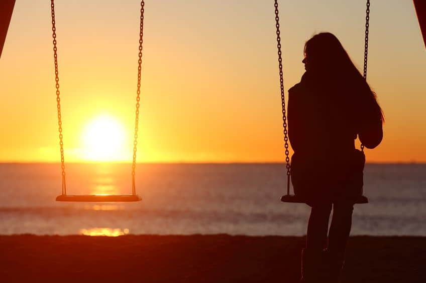 lonely girl ghosted by her boyfriend