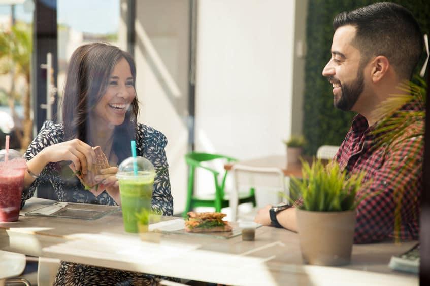 two people enjoying their date