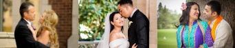 three, happy, newly-wed couples