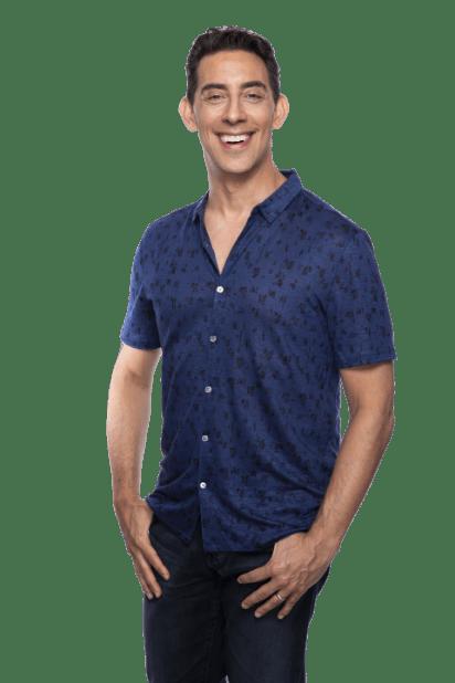 dating coach Evan Marc Katz wearing a blue polo shirt