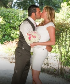 Love U success story of a newly married couple kissing