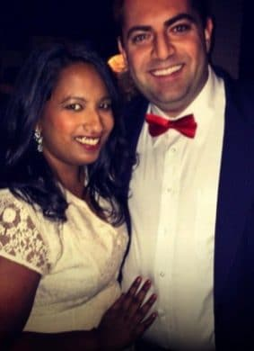happily engaged couple who signed up for Love U by dating coach Evan Marc Katz