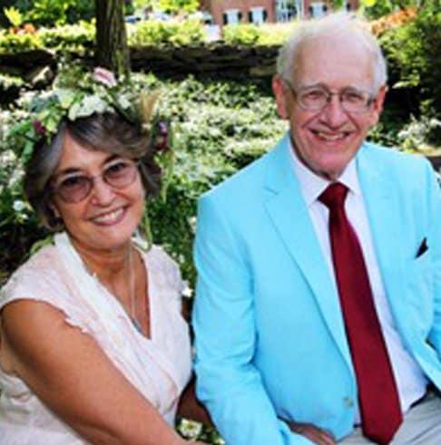 older smiling couple found true love online with Evan Marc Katz's help