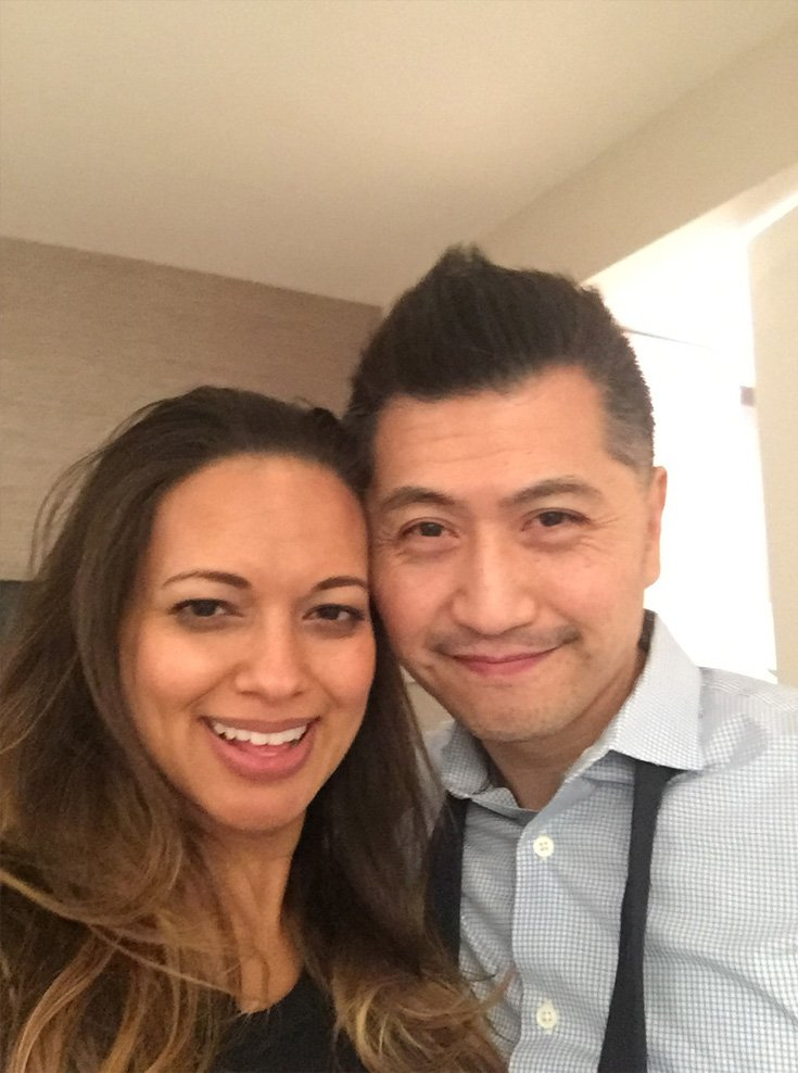 lovely couple taking a selfie