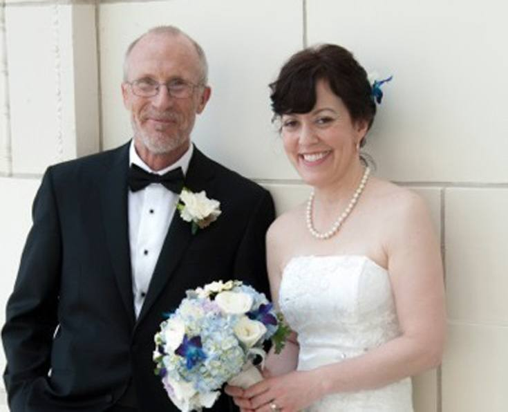 older man getting married to a younger bride