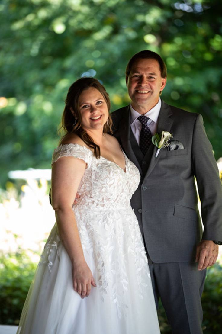 happy middle-aged couple on their wedding