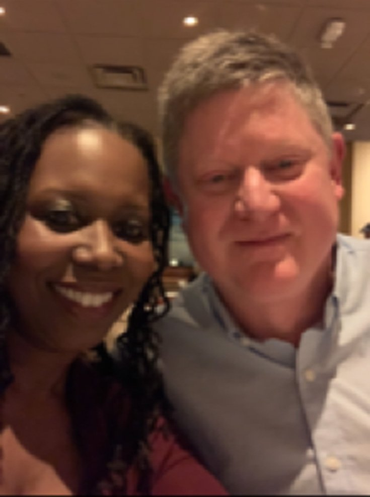 a black-American woman with her boyfriend