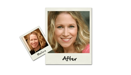 before and after photo get professional online dating photo taken by LookBetterOnline