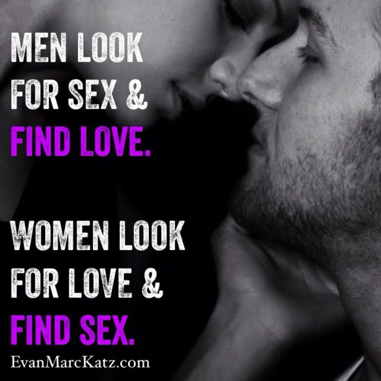 difference between men's and women's ideas of sex and love