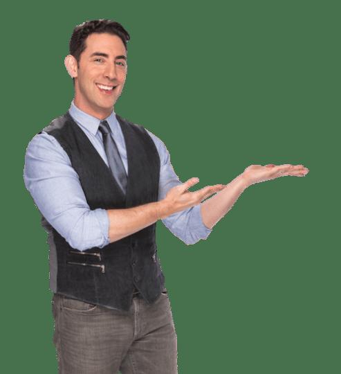 "Evan Marc Katz on a ""presenting"" gesture"