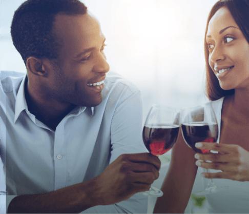 Love U success story of a couple having their wedding toast