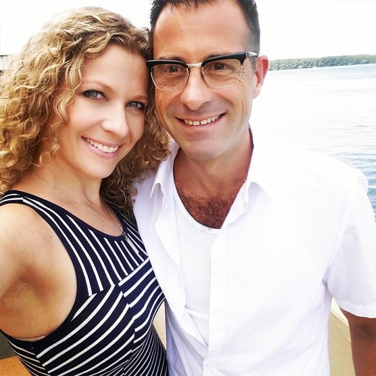 gorgeous couple enjoying the beach