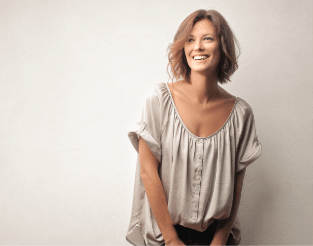 Smart strong successful woman showing confidence smiling looking beautiful