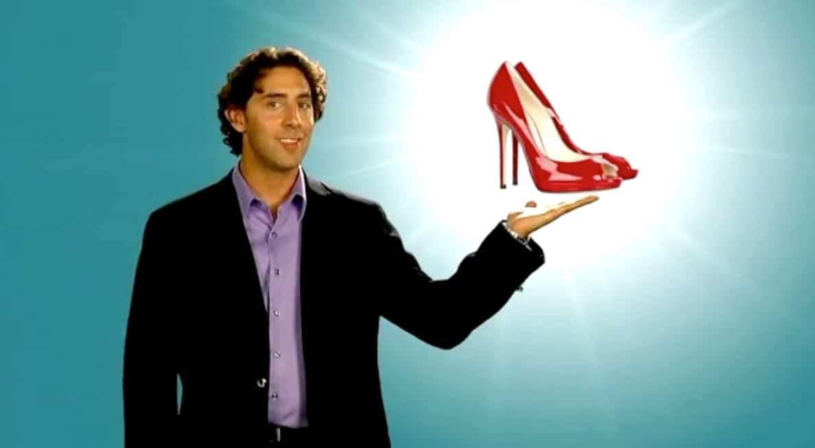 dating coach Evan Marc Katz showing red stiletto heels